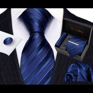 Men's Silk Coordinated Tie Set With Gift Box